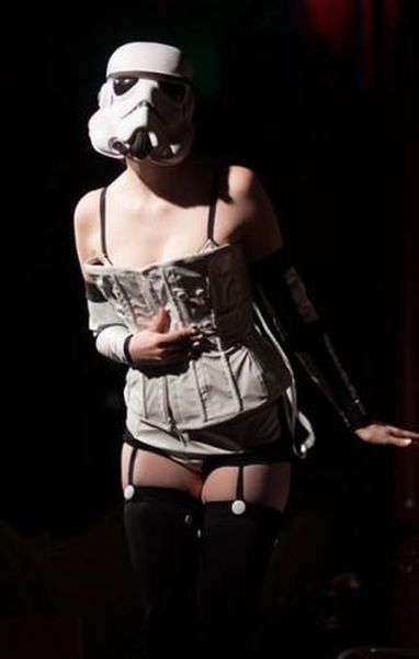 A Sexy Storm Trooper Does Burlesque