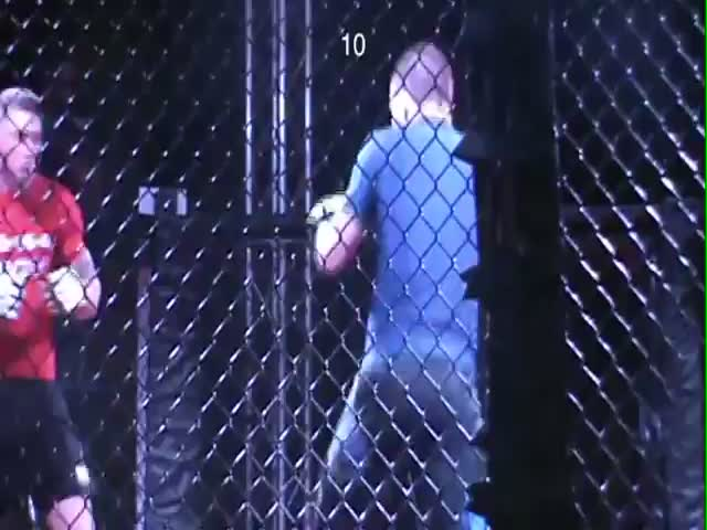 Crazy Double MMA Knockout