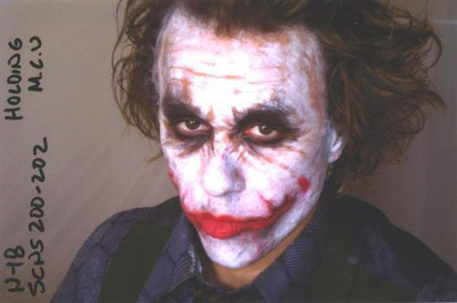 "Heath Ledger As Seen On the Set of ""The Dark Knight"""