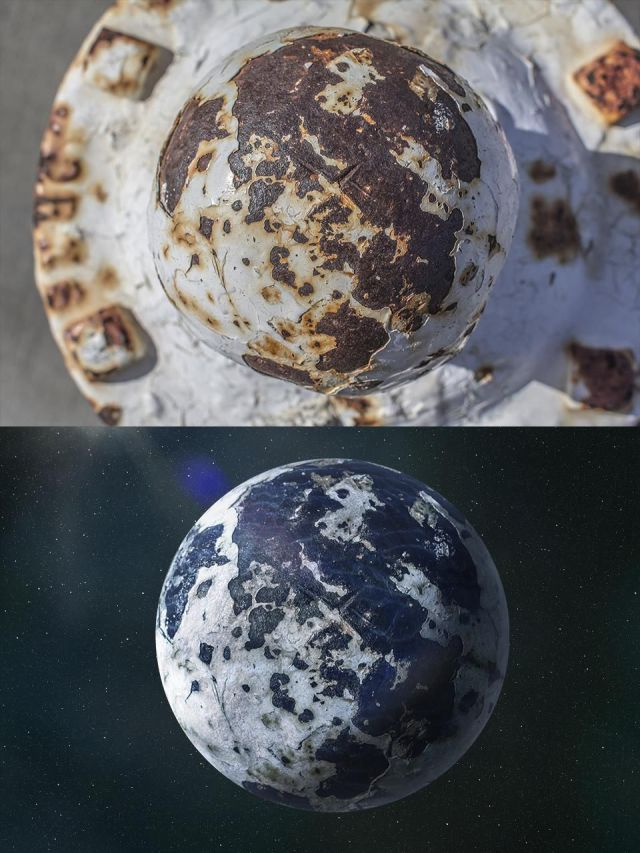 Rusty Fire Hydrants Transformed into Perfect Planets