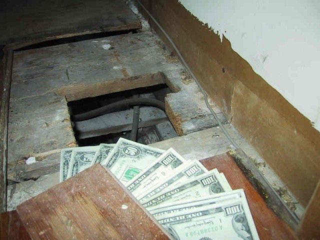 Interesting loot found under the floor of an old house 3 for Hidden floor safe