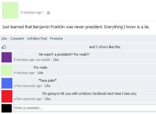 The Dumbest Facebook Posts and Comments