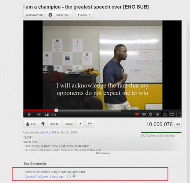 Hilarious and Ironic Comments on YouTube