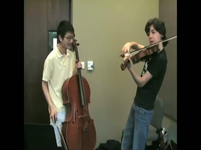 Kids' Awesome Rendition of the Beatles' 'Let It Be' on a Cello and a Violin