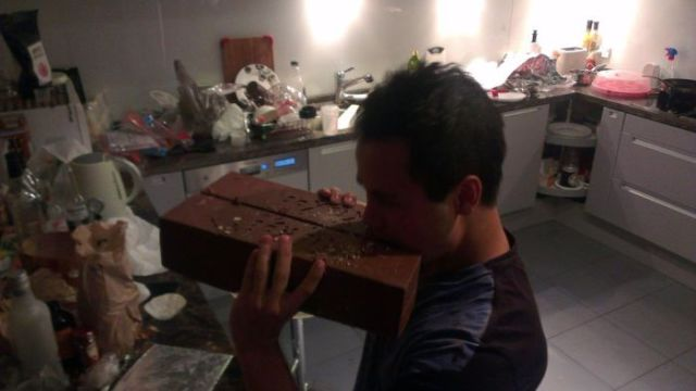 Massive Homemade Kit Kat Chocolate Bar