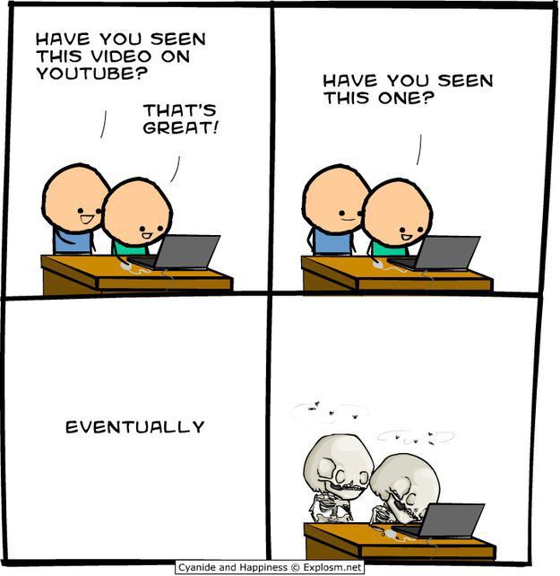 A Comic Strip on Sad But True Facts about the Internet (25 ...