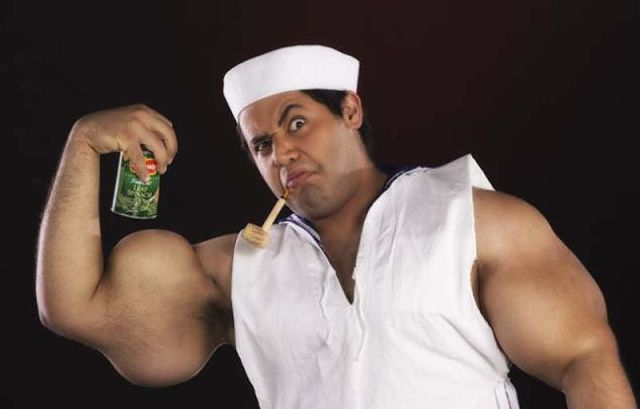 "A Living Incarnation of ""Popeye the Sailor Man"""