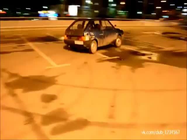 Russian Wannabe Drifter Fail