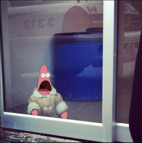 Surprised Patrick in Some Funny Situations