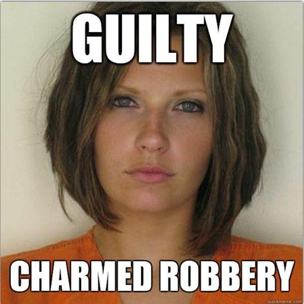 Pretty Female Convict Becomes a Cute Internet Meme