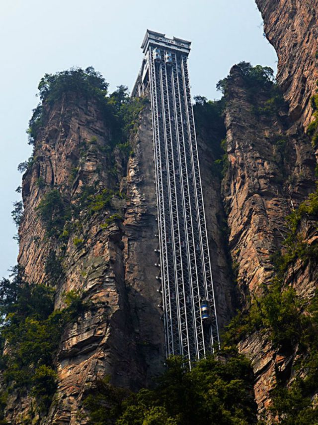 The Sky-High Bailong Elevator Is a True Architectural Feat