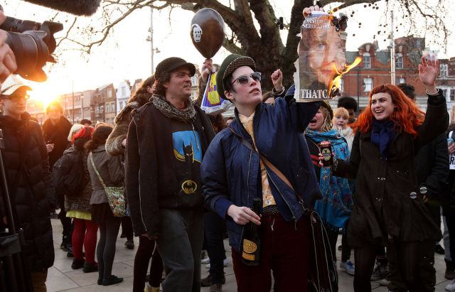 Street Parties Held to in Celebration of Margaret Thatcher's Death