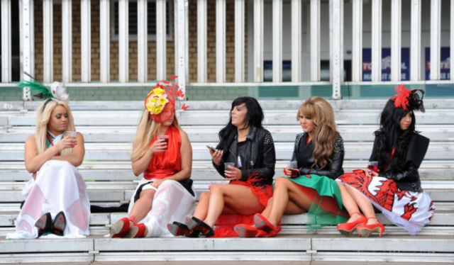 British Girls Get Dolled Up for Ladies Day Debauchery