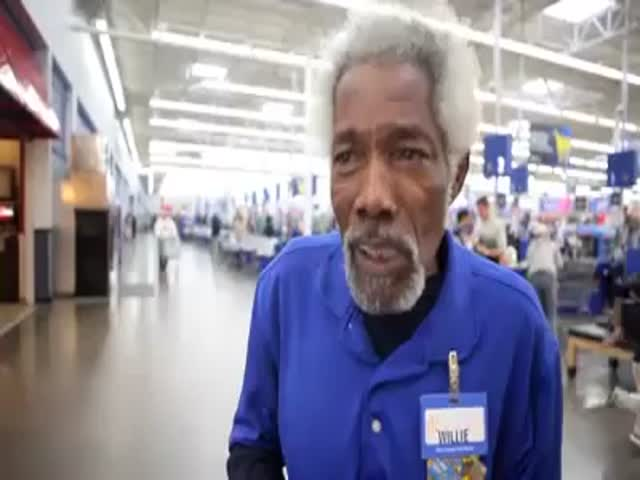 Meet Mr. Willie: the Most Awesome Wal-Mart Greeter You'll Ever Get to See