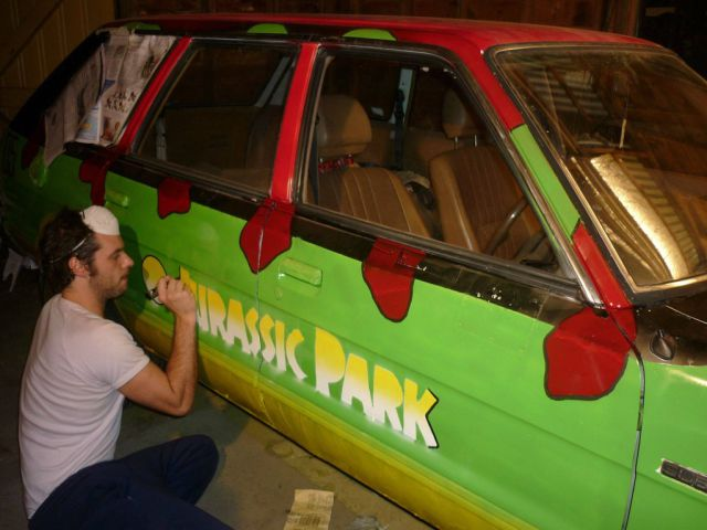 Station Wagon Transformed into Super-Cool Jurassic Park Tour Car