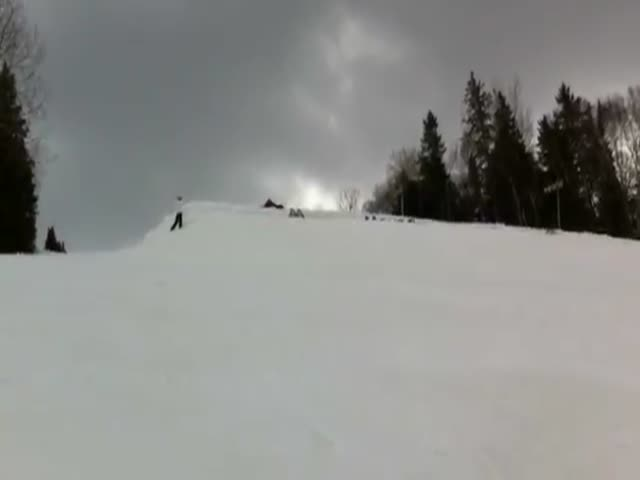 30 People on Skis Doing a Massive Backflip, While Holding Hands!