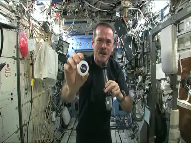 What Happens When You Ring Out Washcloth in Space