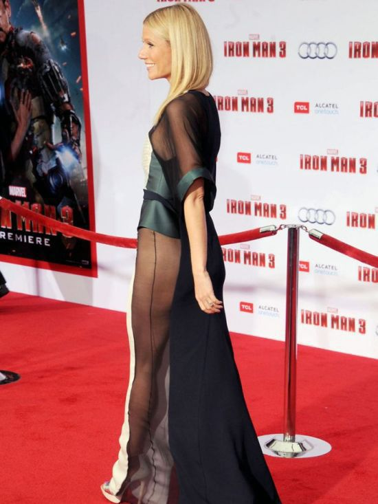 Gwyneth Paltrow Steps Out in Sexy Sheer Dress for Iron Man 3 Premiere