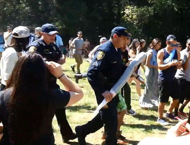 Gigantic Joint Confiscated at Santa Cruz Rally