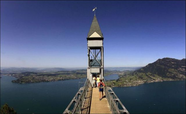 The Highest Outdoor Elevator in Europe