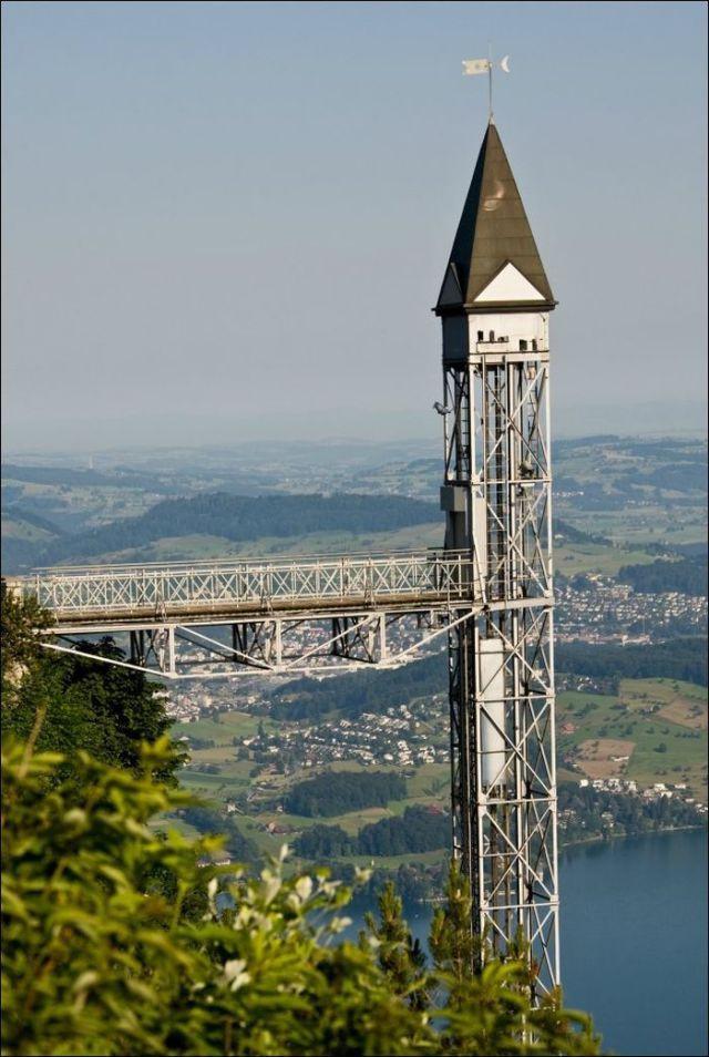 The Highest Outdoor Elevator in Europe