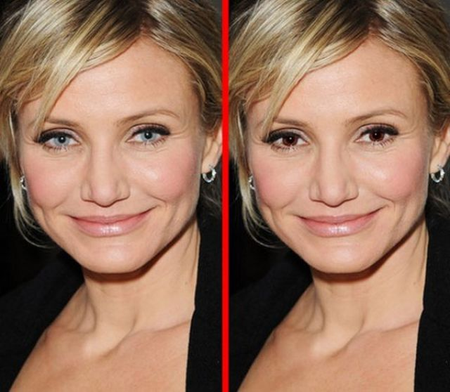Famous Faces Get a Quick Eye-Colour Swop