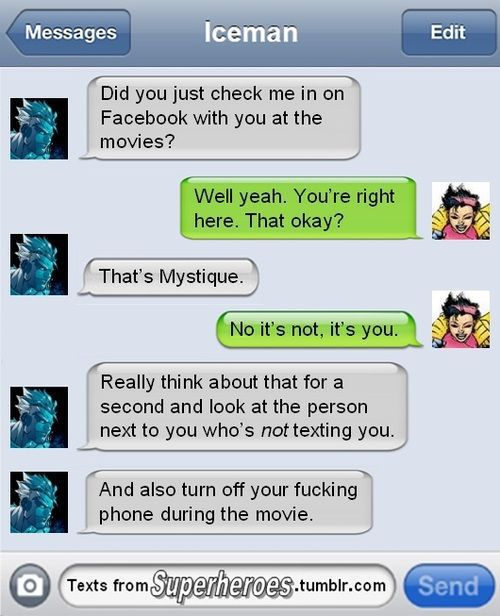 So Superheroes Send Texts Sometimes Too