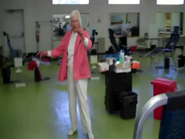 90-Year-Old Woman Does a Double Backflip