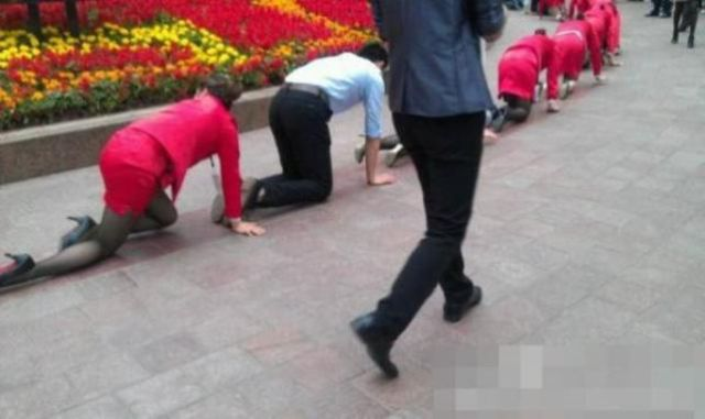 It's Guessing Time: Why Are These People on Their Knees?