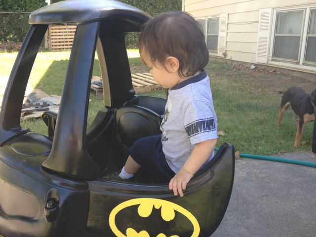 The Coolest Toddler Batmobile Around