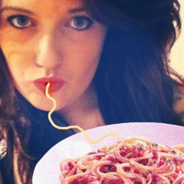 An Amusing Spaghetti and Duck Face Mash Up