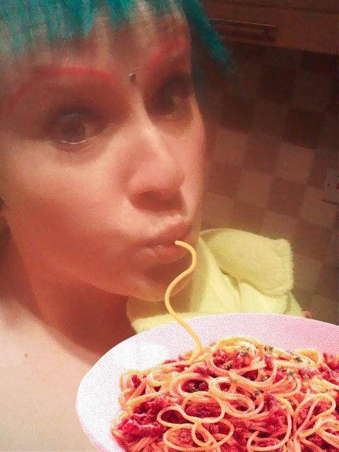 An Amusing Spaghetti and Duck Face Mash Up