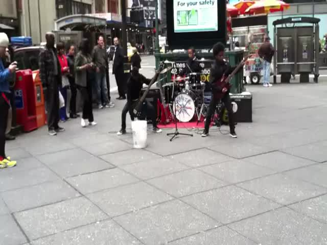11-Year-Old Kids Being as Metal as They Can in NYC