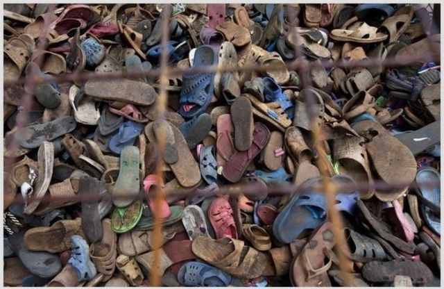 In Africa Old Shoes Become Recycled Works of Art