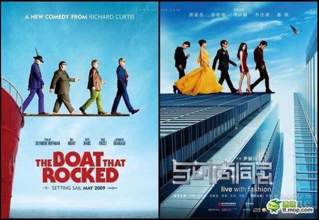 Chinese Movie Posters That Are Almost Exact Copies of the Original Hollywood Versions