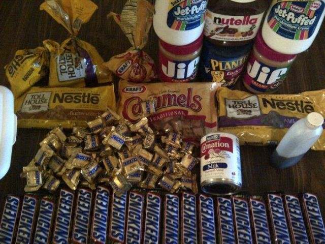Make Your Own Massive Snickers Bar at Home