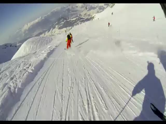 Crazy Ski Race with a Twist