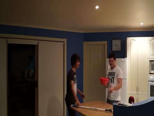 Water Bowl Prank Backfires
