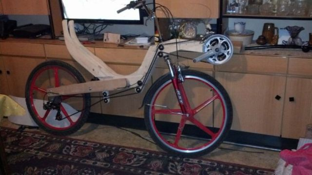 Cool Functional Bicycle Built Entirely from Wood