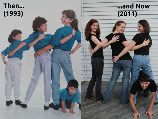 Oddly Terrifying Family Photo Re-creations