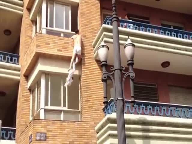 Wife Caught Cheating, Lover Tries Funny Escape