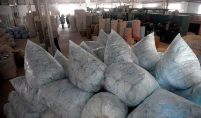 Illegal Chinese Production of Sanitary Pads Busted by Police