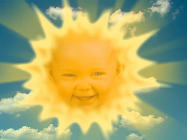 "The ""Teletubbies"" Sun Baby Then and Now"