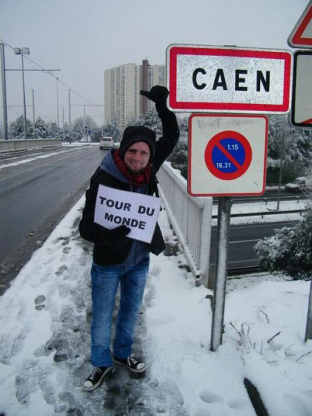 This Man Gives Hitchhiking a New Meaning