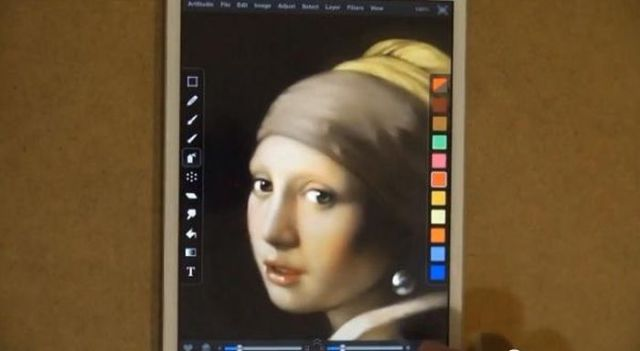 Famous Painting Expertly Recreated on an iPad Mini