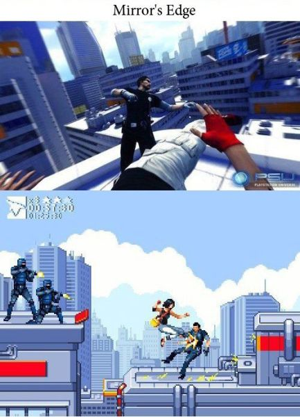 If Modern Day Video Games Were Made in Old School Style