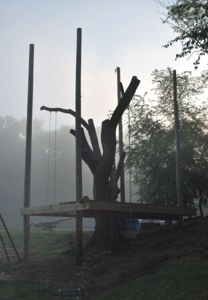 A Fun and Functional Treehouse for Adults