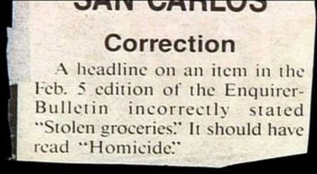 A Collection of Funny Stuff Written in Newspapers