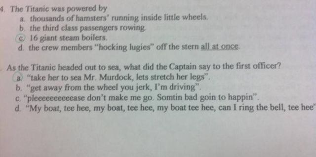 Funny Test Questions That Add a Little Humor to Exams