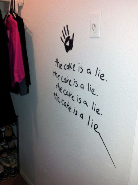 Diy Geeky But Cool Portal Themed Bedroom 57 Pics Picture 17